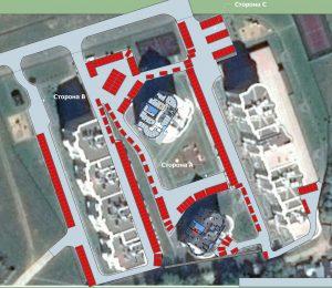 План парковки на территории комплекса. Предварительная версия 0.5